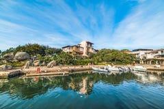 Porto Rotondo under a blue sky Royalty Free Stock Photos