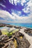 Porto Roxa beach on Zakynthos island Royalty Free Stock Photography