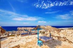 Porto Roxa beach on Zakynthos island Stock Image