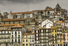 Portos Riberia District And Catedral Stock Images
