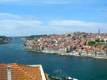 Porto's river Douro in Portugal stock photography