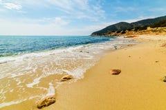 Porto Sa Ruxi shoreline. Villasimius. Sardinia, Italy Stock Photography