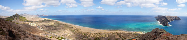 Porto Santo bay overview royalty free stock photography