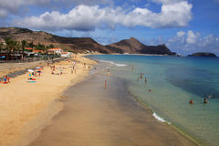 Porto Santo beach Royalty Free Stock Photography