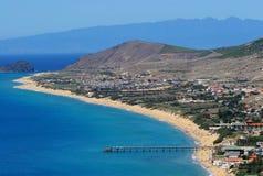 Porto Santo Beach. Aerial view Royalty Free Stock Image