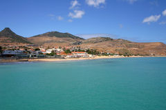 Porto Santo Day. View of Porto Santo's beach during the day Royalty Free Stock Images
