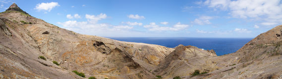 Porto Santo geology. Porto Santo north coast geology features. Madeira, Portugal stock images