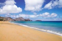 Porto Santo gouden strand Stock Foto's