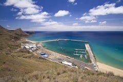 Porto Santo harbor Stock Photo