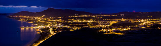 Porto Santo panorama Royaltyfria Bilder
