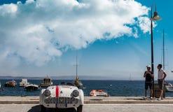 PORTO SANTO STEFANO, ITALIEN - 23. JUNI 2012: Passende Mari Vintage Car stockbild