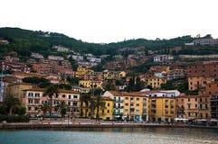 Porto Santo Stefano. Italy. Evening landscape in Porto Santo Stefano Royalty Free Stock Photos