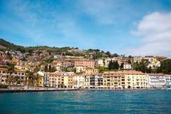 Porto Santo Stefano l'Italie Images stock