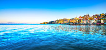 Porto Santo Stefano panoramic view of seafront. Argentario, Tusc Stock Images