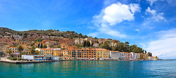Porto Santo Stefano seafront panorama. Argentario, Tuscany, Ita Royalty Free Stock Photo