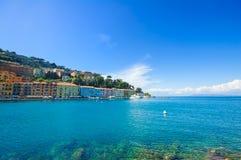 Porto Santo Stefano seafront promenade. Argentario, Tuscany, Ita Royalty Free Stock Photos