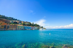 Porto Santo Stefano seafrontpromenad. Argentario Tuscany, Ita Royaltyfria Foton