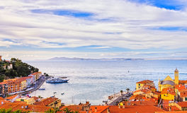 Free Porto Santo Stefano Village, Church And Seafront Panorama. Argentario, Tuscany, Italy Stock Photography - 82019582