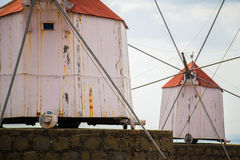 Porto Santo Windmills Royalty Free Stock Photo