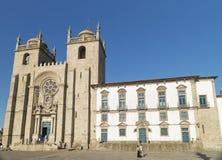 Porto se-domkyrka i Portugal Royaltyfria Foton