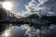 Porto segreto della baia in Columbia Britannica Immagini Stock Libere da Diritti
