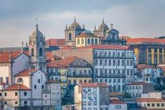 Porto, a segundo-grande cidade em Portugal Localizado ao longo do estuário do rio de Douro em Portugal do norte Seu núcleo histór fotografia de stock