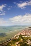 Porto Seguro dal cielo - Bahia, Brasile fotografia stock