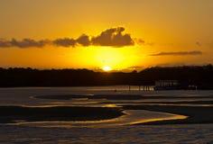 Porto Seguro solnedgång royaltyfria bilder