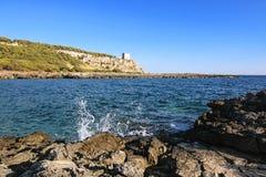 Porto selvaggio - puglia, Italien Royaltyfria Foton