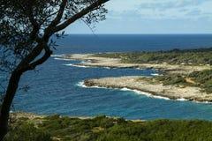 Porto Selvaggio Regionaal Park Stock Foto's