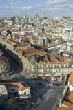 Porto skyline from Clerigos tower, Portugal Stock Images