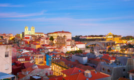 Porto skyline at twilight, Portugal Royalty Free Stock Images