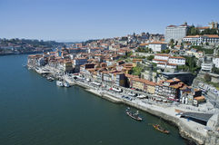 Porto skyline from Vilanova de Gaia, Portugal Royalty Free Stock Photography