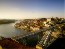 Porto-Sonnenuntergang-Fluss-Ansicht Lizenzfreies Stockfoto