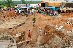 Porto sopra la banca del Rio delle Amazzoni Immagine Stock Libera da Diritti