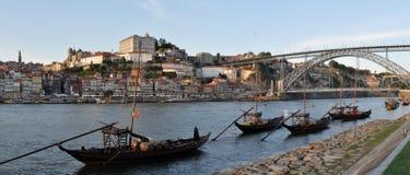 Porto stad - panorama Arkivfoto