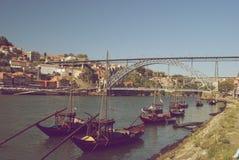 Porto stad, Portugal - Wijnoogst Stock Fotografie