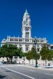 Porto stadshus i Portugal Royaltyfria Foton