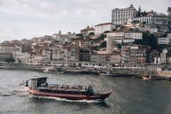Porto stadspanorama royaltyfri fotografi