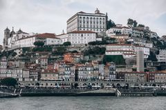 Porto stadspanorama stock afbeeldingen