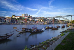 Porto stadssikt Arkivfoton