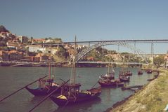 Porto-Stadt, Portugal - Weinlese Stockfotografie