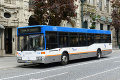 Porto STCP public bus on the street, Portugal Royalty Free Stock Image