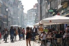 Porto straatlandschap Stock Afbeelding