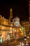 Porto streets at night Stock Photo