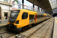 Porto suburban train, Portugal Royalty Free Stock Images