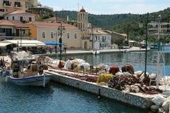 Porto sulla piccola isola della Grecia Immagine Stock Libera da Diritti