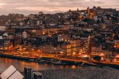 Porto Sunset almost night royalty free stock image