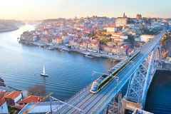 Porto at sunset, Portugal stock photography