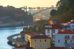 Porto at sunset, Portugal Royalty Free Stock Photos